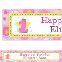 One-Derful Girl 1st Birthday Custom Banner 6ft