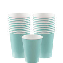 Robin's Egg Blue Paper Cups 20ct