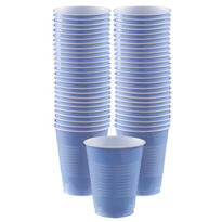 Pastel Blue Plastic Cups 16oz 50ct