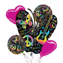 Balloon Bouquet 5pc - Neon Doodle