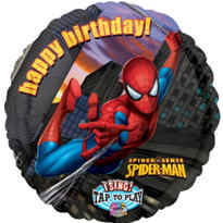 Foil Spiderman Singing Balloon 28in