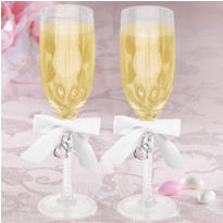 Sweetheart Charm Toasting Glasses