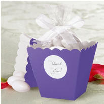 Lavender Popcorn Box Wedding Favor Kit 50ct