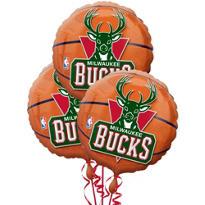 Milwaukee Bucks Balloons 18in 3ct