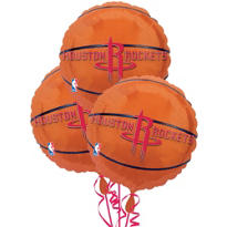 Houston Rockets Balloons 18in 3ct