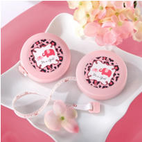 Pink Safari Baby Shower Measuring Tape