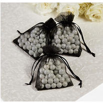 Black Organza Favor Bags
