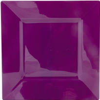 Plum Premium Plastic Square Dinner Plates 10ct