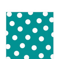 Peacock Blue Polka Dot Lunch Napkins 6 1/2in 36ct