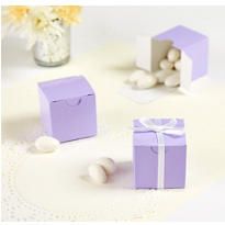 Lavender Wedding Favor Boxes 100ct