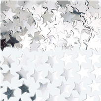 Mini Silver Star Confetti 0.25oz