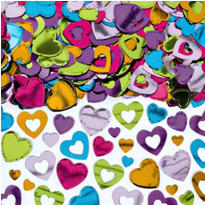 Multi Color Hearts Confetti 2 1/2oz