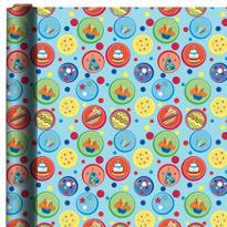 Blue Dots Birthday Gift Wrap