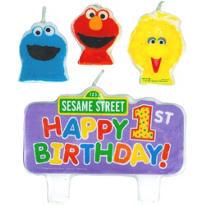 Sesame Street 1st Birthday Candles 4ct