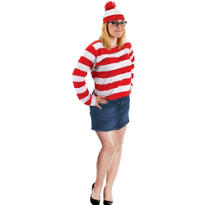 Adult Wenda Costume Plus Size - Where's Waldo?