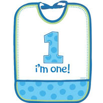 Blue Sweet Little Cupcake 1st Birthday Bib