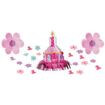 Girl 1st Birthday Table Decorating Kit