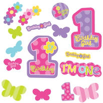 Hugs & Stitches 1st Birthday Cutouts 30ct