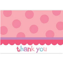 Sweet Little Cupcake Girl Thank You Notes 20ct