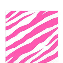 Bright Pink Zebra Print Lunch Napkins 16ct