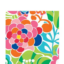 Poppin Flowers Lunch Napkins 16ct