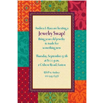 Boho Patchwork Custom Invitation
