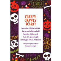 Spooktacular Halloween Custom Invitation