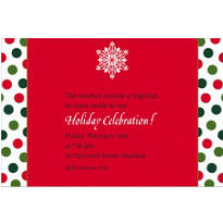 Holiday Dots & Stripes Custom Invitation