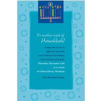 Hanukkah Wishes Custom Invitation