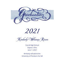 Calligraphic Graduation Custom Graduation Announcement