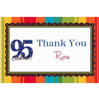 A Year to Celebrate 95 Custom Thank You Note