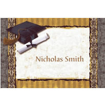 Golden Grad Custom Graduation Thank You Notes