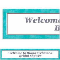 Turquoise Border Custom Banner 6ft