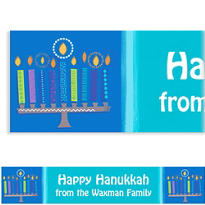 Hanukkah Wishes Custom Banner