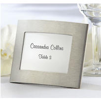 Silver Elegant Arc Photo Frame Place Card Holder