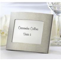 Silver Elegant Arc Photo Frame Place Card Holder