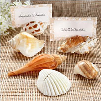 Shells By The Sea Shell Place Card Holder Favor 6ct