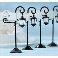 Bourbon Street Streetlight Place Card Holder Wedding Favor 4ct