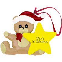 Baby's 1st Christmas Ornament 3 1/2in x 3in