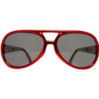 Red Vegas Christmas Sunglasses 5 1/2in