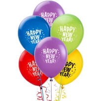 Multicolor New Years Latex Balloons 20ct