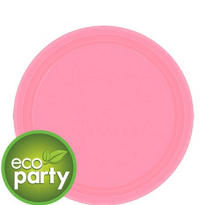 Eco Friendly Pink Paper Dessert Plates 24ct