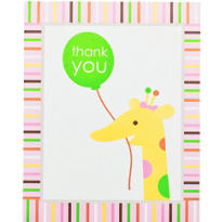 Pink Sweet at One 1st Birthday Thank You Notes 8ct