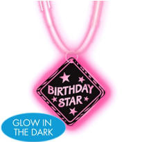 Birthday Star Glow Pendant Necklace