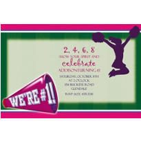 Cheerleading Custom Invitation