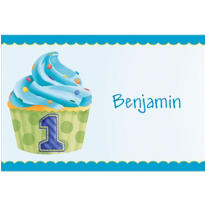 1st Birthday Blue Custom Thank You Note