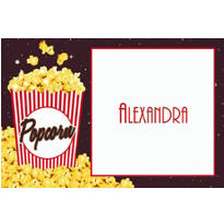 Movie Night Popcorn Custom Thank You Notes