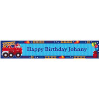 Fire Engine Fun Custom Banner 6ft