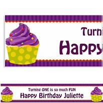 1st Cupcake Custom Banner 6ft