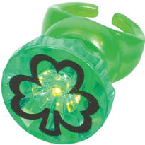 Light-Up St. Patricks Day Shamrock Ring